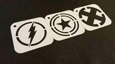 SUPEREROI Set di stencil per Flash 3pcs Capitan America X Uomo Cupcake Glassa CARD