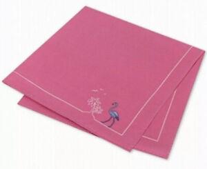 Tommy Hilfiger Men's Flamingo Pride Silk Pocket Square - 100% Silk