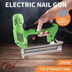 Electric Straight Nail Gun Nailer Framing Heavy Duty Woodworking Tool F30 1800W