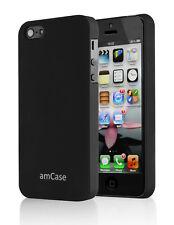 Apple iPhone 5 amCase Matte Slim Fit Phone Case/Cover (Black)