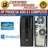 HP ProDesk 600 G1 Tower Intel i3 4 GB RAM 500 GB HDD Win 10 USB B Grade Desktop