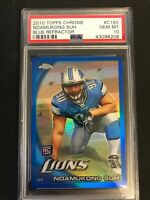 🔥🔥2010 Topps Chrome Blue Refractor Ndamukong Suh ROOKIE Pop 2 /199 PSA 10🔥🔥