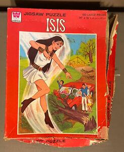 Vintage Whitman Isis Jigsaw Puzzle 100 Piece 1976 Filmation Superhero #4610