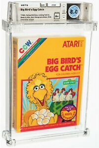1983 BIG BIRD'S EGG CATCH ATARI 2600 SESAME ST. FACTORY SEALED A+ WATA 8.0