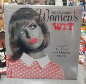 Womans Wit 2022 Square Wall Calendar New Free Postage