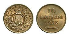 pcc1392_17) Repubblica San Marino Vecchia Monetazione Cent 10 1938 Rame Rosso