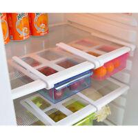 Slide Fridge Freezer Refrigerator Storage Rack Organizer Shelf Drawer Crisper