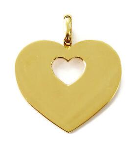 Poiray 18k Yellow Gold Heart Charm Necklace Pendant ~ 8.2g