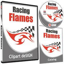 Racing Flames Clipart Vinyl Cutter Plotter Images Eps Vector Clip Art Cd