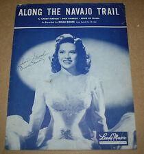 "1945 Vintage Sheet Music ""Along The Navajo Trail"" Leeds Music"