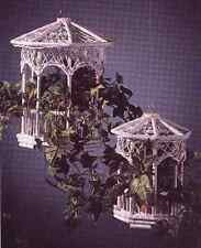 Rattan Gazebo Planters 2 Piece Set, White Finish