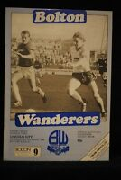 PROGRAMME - D3 - Bolton Wanderers vs Lincoln City - 3 Nov 1984