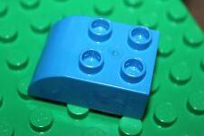 LEGO® Duplo 4 X rounded bricks briques arrondies - Noppen abgerundet - bleu 2x3