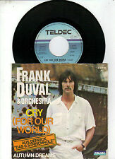 Frank Duval & Orchestra   -    Cry for our World