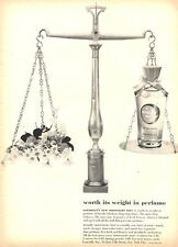1951 Gourielli Moonlight Mist Perfume Vintage Bottle  PRINT AD