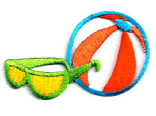 SUMMER FUN OPEN SUMMER VIEW DESIGN EMBROI IRON ON PATCH