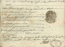 Regno delle Due Sicilie Manoscritto Vendita di Terreno in Atessa Abruzzo 1817