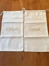 Lot of 2 - Chloé Dust Bag Dustbags for:  Wallet, Shoes, Other - NWOT