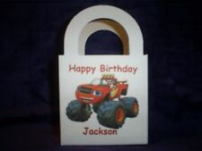 Blaze & the Monster Machines Personalized Birthday Party pack 12 Favor Boxes/bag