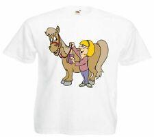 Motiv Fun T-Shirt Pferd mit dem Eigentümer Cartoon Spass Kult Film Top Motiv