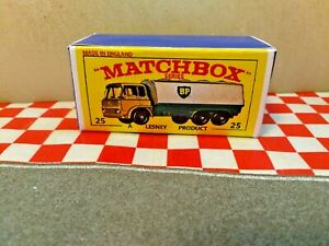 Matchbox Lesney   No25  BP Tanker EMPTY Reproduction Box Only. NO TRUCK