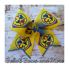 Club America SOCCER  cheer style hair bow