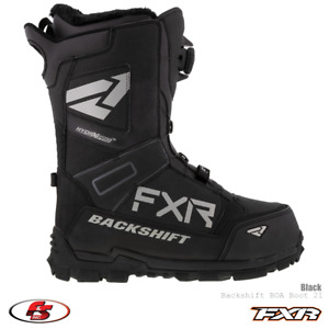 New 2021 FXR Backshift BOA Men's Snowmobile Boot - Black Size 10 Snocross