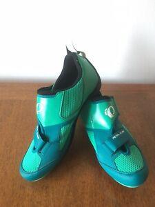 Pearl Izumi Tri Fly V Carbon Triathlon Cycling Shoes Green Women Size EUR 42