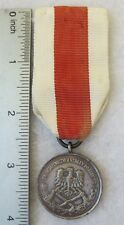 POLISH FIRE SERVICE MEDAL SILVER CLASS Post WW2 Made in POLAND COLD WAR Vintage