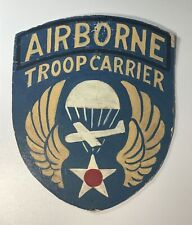 VINTAGE WWII AIRBORNE TROOP CARRIER PAINTED PATCH SIGN