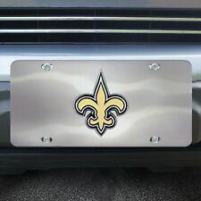 New Orleans Saints Die Cast Chromed Metal License Plate Tag