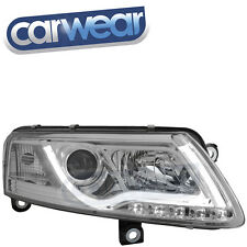 AUDI A6 04-08 C6 4F CHROME LED DRL CCFL BAR PROJECTOR HEADLIGHTS