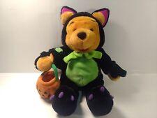 "Winnie The Pooh Bear Dressed As Black Cat 12"" Stuffed Animal Halloween  t1917"