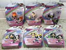 The Powerpuff Girls Figuras-Buttercup, Blossom, Mojo Jojo Bubbles,, The Major