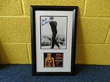 JAMES BOND -Sean Connery rare signed picture in a one of a kind frame GOLDFINGER