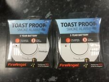 2 x FireAngel ST-625R Toast Proof Home Smoke Alarm With 5 Year Battery