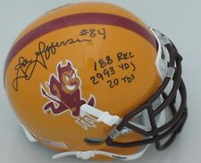 Sun Devils JOHN JEFFERSON Signed Mini Helmet AUTO w/Career Stat Inscriptions ASU