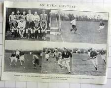 1928 Hockey Match Between Gloucester & Bristol Played On Barnwood Ladies Hockey