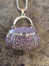 Betsey Johnson Gold Necklace CrystalFashion Purse Pendant Brand New Nice Gift!