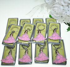 12 QUINCEANERA Favors Key Chains Pink  Llaveros Recuerdos De 15 Anos Mis XV Anos
