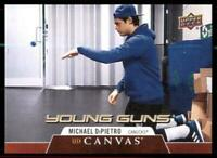 2020-21 UD Series 1 Canvas Young Guns #C102 Michael DiPietro RC