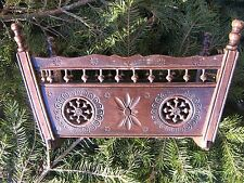 ANTIQUE FRENCH ROCKING BED OAK WOOD DOLL FURNITURE BRITTANY