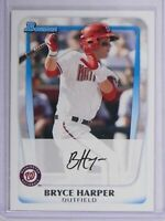 2011 Bowman BRYCE HARPER #1 Draft Pick Rookie RC Philadelphia Phillies $$$ HOT !