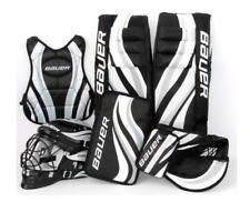 New Bauer youth street hockey pads/gloves/helmet/chest goalie equipment set/kit