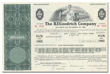 B. F. Goodrich Company Bond Certificate