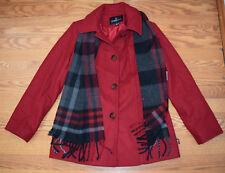 ace7ae998ed32 NWT Womens London Fog Red Wool Scarf Dress Peacoat Coat Jacket S Small
