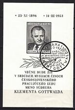 CZECHOSLOVAKIA 1953  used SC # 586 S/S Death of President Klement Gottwald