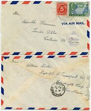 CURACAO to ST LUCIA LAST USE CENSORED AIRMAIL 2 AUG 1945 NETHERLANDS ANTILLES