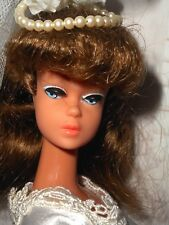Vintage RARE VHTF MA-BA JAPANESE PONYTAIL BARBIE DOLL IN ORIGINAL BRIDE OUTFIT