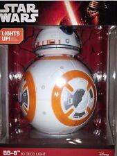 Genuine DISNEY STAR WARS BB-8 LED 3D FX Deco Night Light Wall Lamp Room Decor